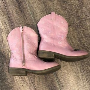 Cherokee pink cowgirl boots
